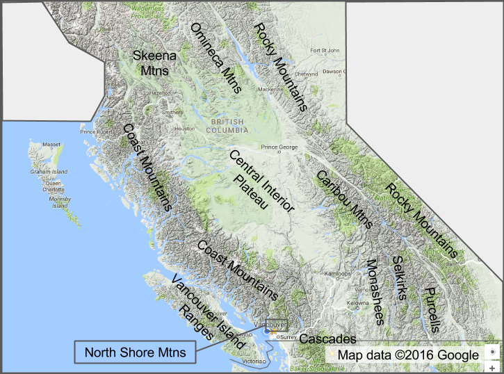 Northern California Map Of Mountain Ranges.6n Pressure Levels Mountain Heights